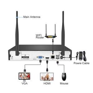 Image 3 - Techage 4CH 무선 2 테라바이트 HDD NVR CCTV 보안 시스템 4 pcs 720 P 1MP 돔 Wifi IP 카메라 Ir 야간 감시 키트
