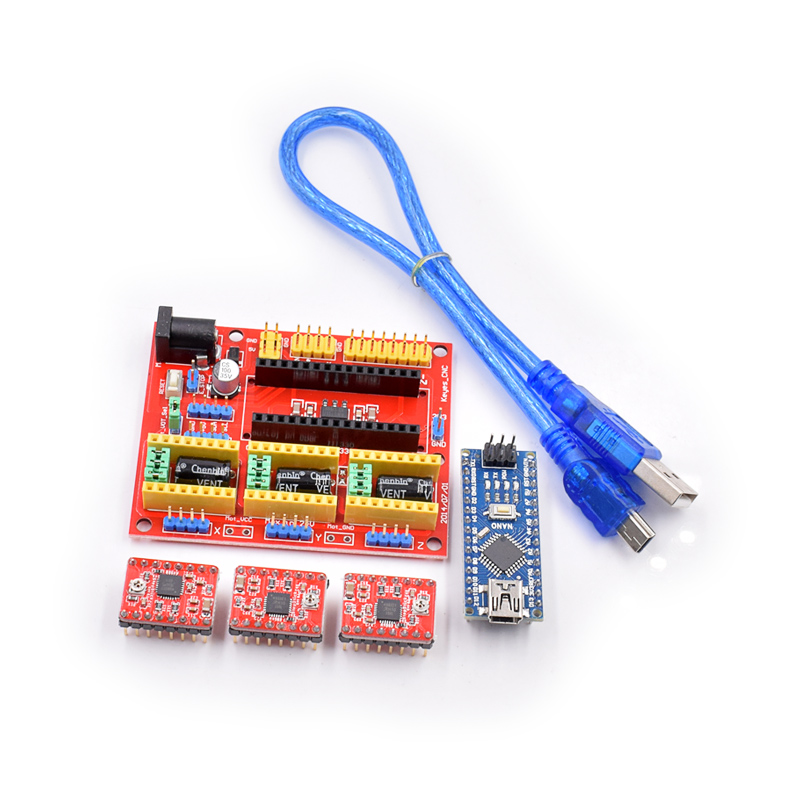 CNC Shield V4 +3pcs A4988 Driver+ Nano CH340 Set
