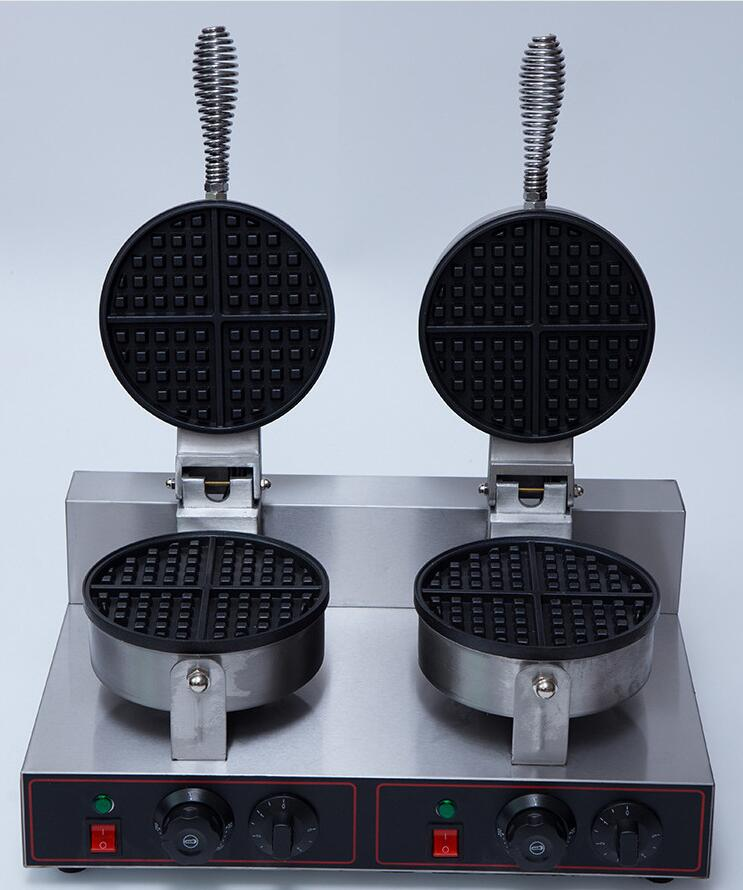 Double heads Professional commercial waffle maker stainless steel waffle baker