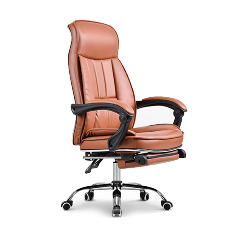 Fashion Boss Chair PU Household Lift Swivel Chair Reclining Office Chair With Footrest Adjustable Computer Chair Simply Style