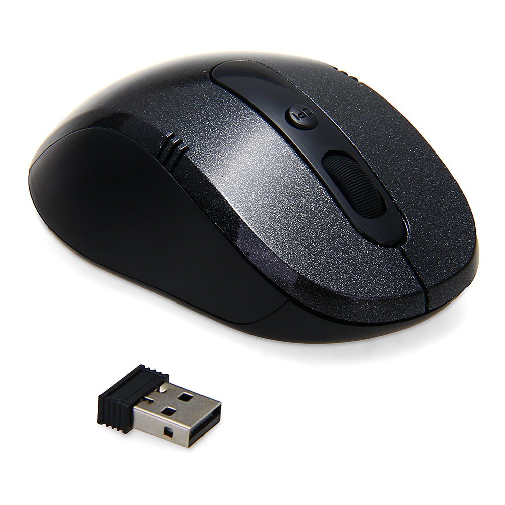 GTFS-Hot Sale 2.4GHz wireless mouse USB mouse wireless mouse black mouse 6 buttons for computer PC