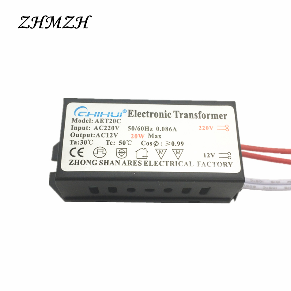 20W LED Electronic Transformer LED driver Power Supply AC220V To AC12V For 12V MR11 MR16 G4 LED Lamp Bulbs Or Halogen Lamp Beads 10pcs 3x3w led mr16 driver 3 3w transformer power supply for mr16 12v lamp power 3pcs 3w led high power lamp led free ship page 7