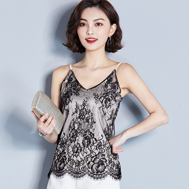 AOSSVIAO Print   Tank     Top   2019 Women Ladies Summer   Top   Casual Solid Vest T-Shirt Sleeveless   Tops   Casual Camis Beige Black