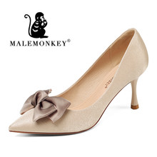 Classice Women Pumps Pointed Toe Spring and Autumn Fashion Shoes Party Wedding High Heel Ladies 2019