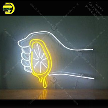 Neon light Signs Lemon Juice Neon Bulb sign Lamp Handcraft Bedroom PUB Store display Business neon Letrero Neons enseigne lumine