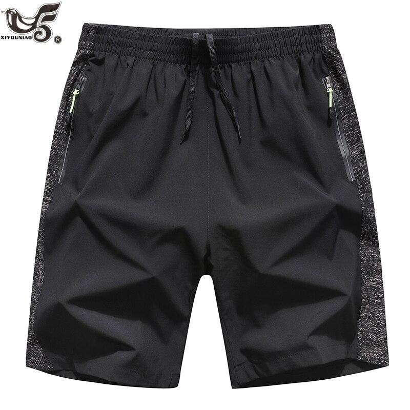 XIYOUNIAO Plus Size L~7XL 8XL Casual Shorts Men Breathable Shorts Male Elastic Waist Beach Shorts Mens Quick Drying Jogger Short