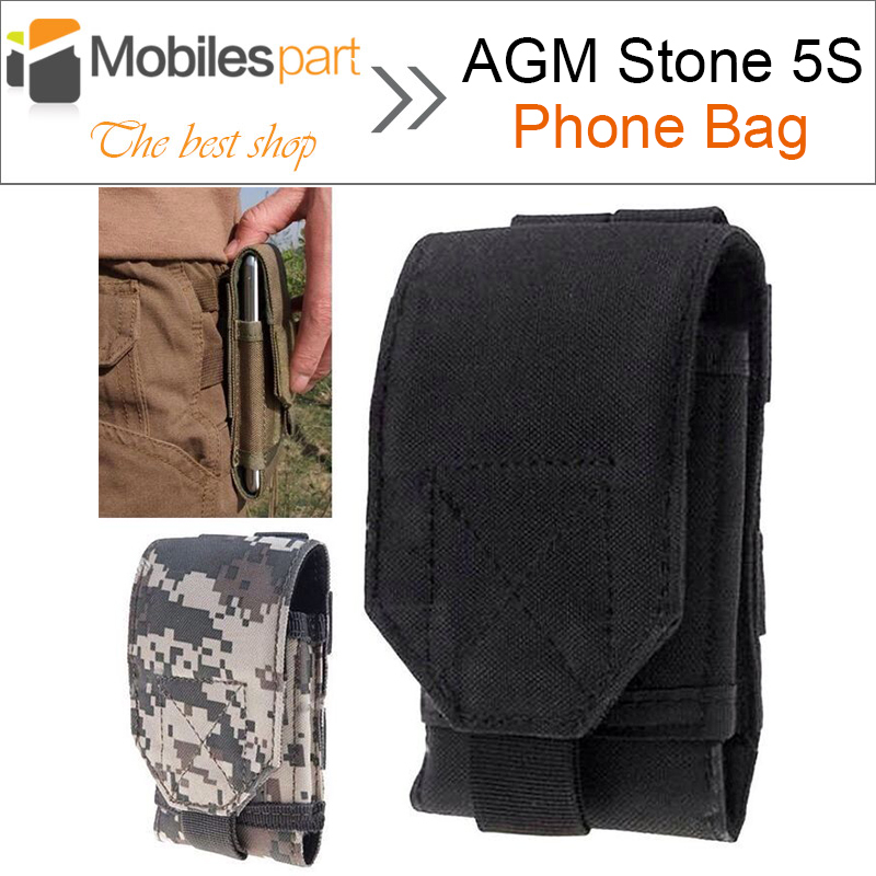 AGM Stone 5S Phone Bag Outdoor MOLLE Army Camo Camouflage Bag Hook Loop Belt Pouch For AGM Stone 5S /MANN ZUG 5S/OUKITEL U8
