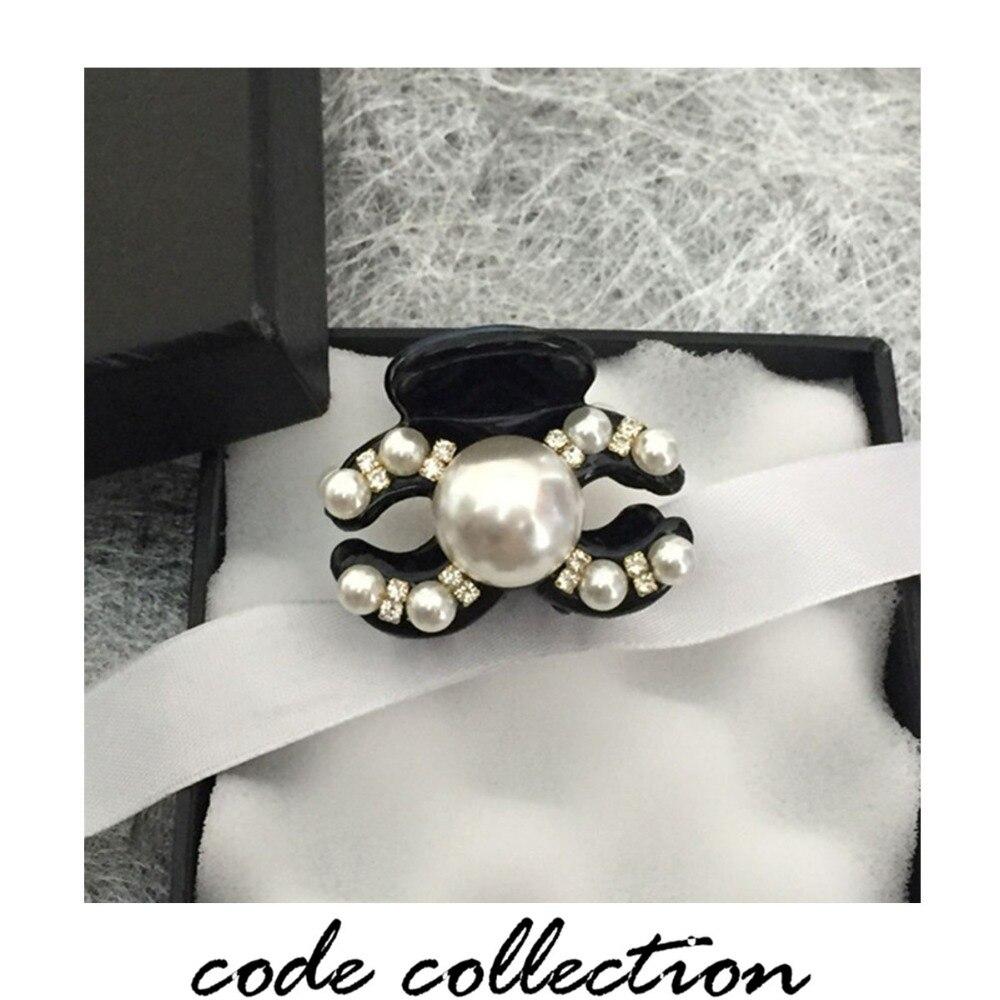 Fashion Geometric Pearl Crystal Acrylic Hair Claws Clip High Quality Hairpins For Women Girl Wedding Hair Crab Clip Accessories