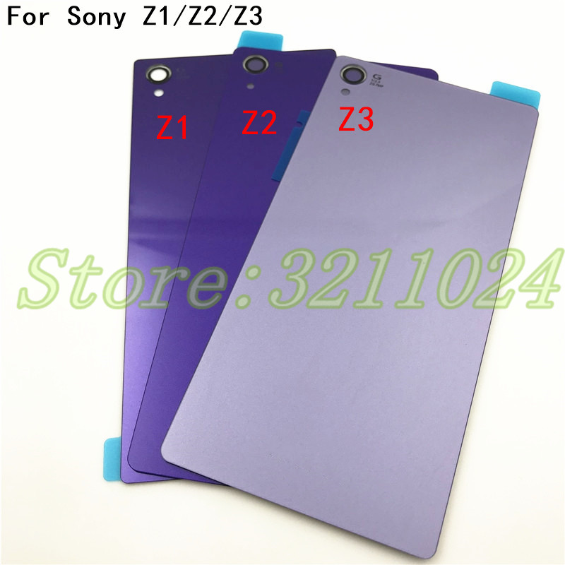New Rear Door <font><b>Battery</b></font> Back Housing Glass Replacement <font><b>Cover</b></font> Case For <font><b>Sony</b></font> Xperia Z1 <font><b>Z2</b></font> Z3 With Logo image