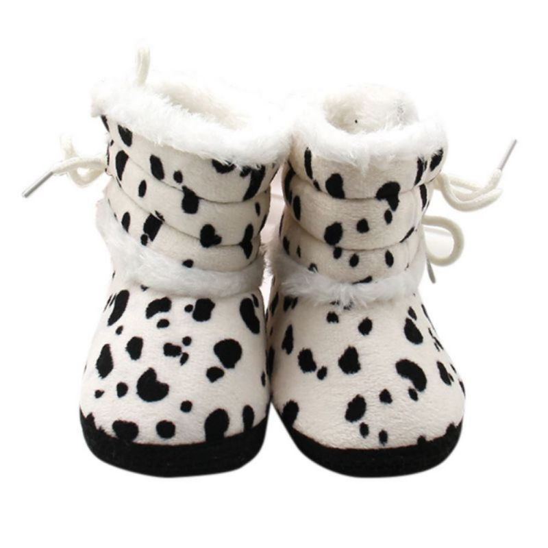 Winter Fleece Baby Shoes Milk Cow Printed Moccasin Faillette Fiiting New Designs Strap Baby Soft Shoes 2017 New Fashion Shoe