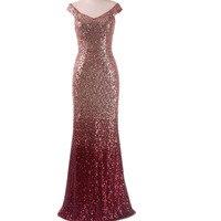 Long Evening Party Dresses Women 2017 New Fashion Sparkly Sequin Dress Plus Size 4XLX5XL Clothing Floor