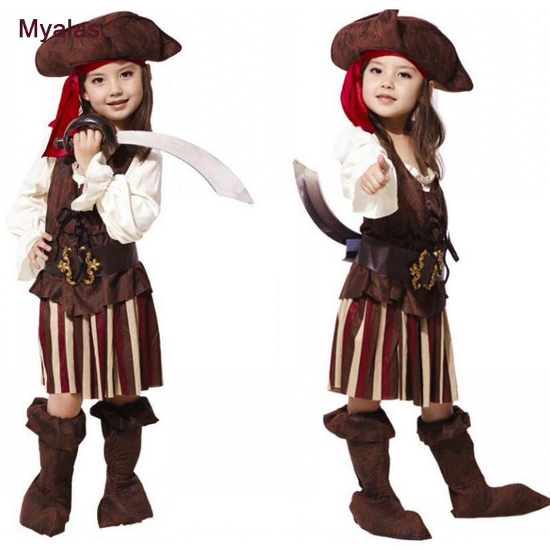 Baby Girls Pirate Clothing Clothes Children's Clothing Set Halloween Costumes for Children Pirate Clothes Girl Dresses