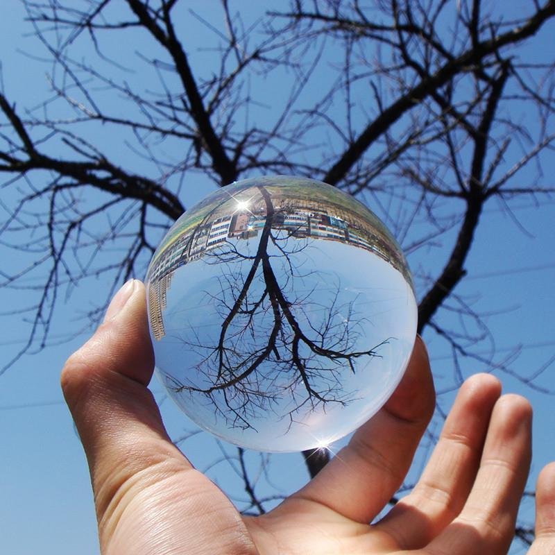 80MM Kontakt Jug Ball Ball 100% Akrilik Transparente Ball Ball Crystal Faza Truket Magjike për Magjistarët 1Pcs Lehtë për të bërë lodra