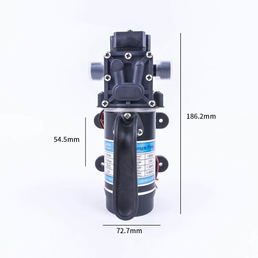Image 3 - Electric 12V 120W 130PSI 10L / Min Water Film High Pressure Self Priming Pump Return Pump Backflow Control For Garden-in Pumps from Home Improvement