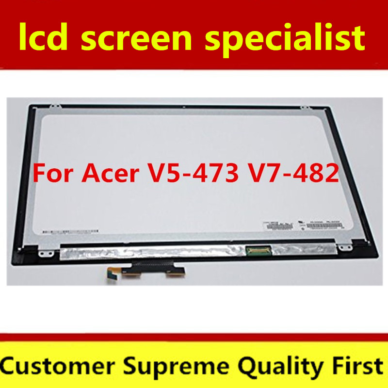 "14"" Touch Screen Digitizer Glass Lens For Acer Aspire V7-482P V7-482PG V7-481P V5-473 V5-473P B140XTN02.4 Laptop LCD Assembly"