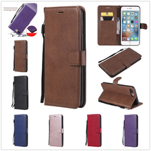 For Iphone 7 8plus Case Luxury Solid Color Business Leather 8 Card Slot Wallet Fashion Pu I7 I8 Flip Cover Phone