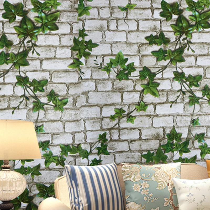 0.45x10 M Diri Perekat stiker dinding vinyl Batu Bata wallpaper Kamar - Dekorasi rumah - Foto 3