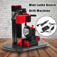 Woodworking Mini Lathe Bench Drill Machine DIY Electric Drill Model Making Tool Lathe Milling Machine Kit 110V 240V