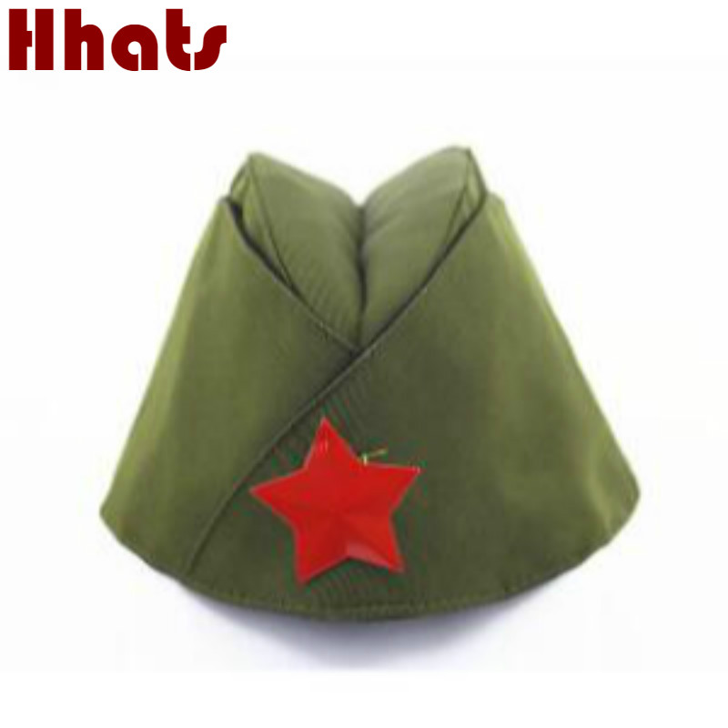 Which In Shower Russian Military Hat Red Star Badge Sailor Cap Party Costume Party Cosplay Stage Performance Captain Navy Berets