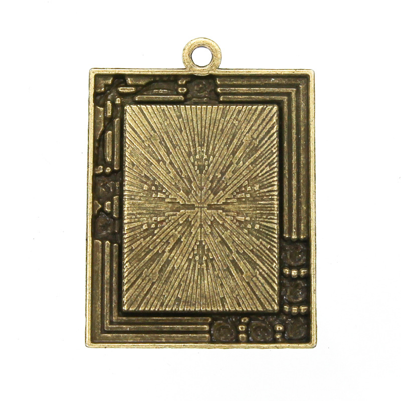 10pcs Retro Antique Bronze MINI Painting Frame Creative Decorative DIY Photo Frame Pendant Home Decoration Parts in Frame from Home Garden