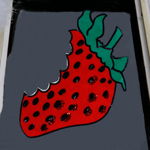 1pc Embroidered Sequined Strawberry Large Patch for Clothing for T-shirt Dress Jacket Jeans Kids Clothes Sew on Patches P151
