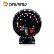 """CNSPEED 3 3/"""" крутое углеродное волокно 0-8000 Тахометр Датчик Оборотов с межсменный светильник/гоночный Спидометр YC100144-CN"""