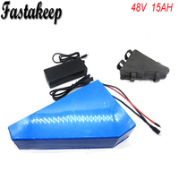 48V 15Ah Triangle battery with 15A BMS 2A fast charger for 750W 48V Electric Bicycle battery 48V 15Ah Lithium battery