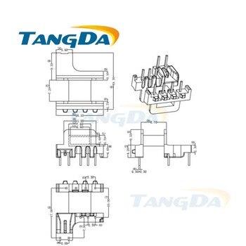 Tangda EM EM15 tipo 5 + 4 pines 9 P bobina núcleo magnético + esqueleto ferrites transformador de potencia carcasa PC44