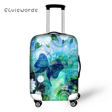 ELVISWORDS Travel Luggage Cover Sweet Butterfly Printed for Suitcase 3D Protective Elastic Stretch to 18-30 Case New