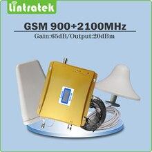 Double bande Répéteur de Signal 2G 3G EDGE/HSPA GSM 900 MHz WCDMA UMTS 2100 MHz Cellulaire Signal Booster ensemble complet avec Antenne et Câble