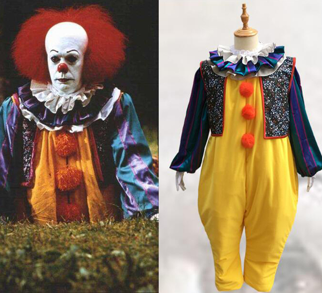 775e0d51885d Visualizzza di più. Movie Stephen King  s Cosplay costume Horror Pennywise  Joker Vestito Su Ordine Carnevale Halloween Haunted