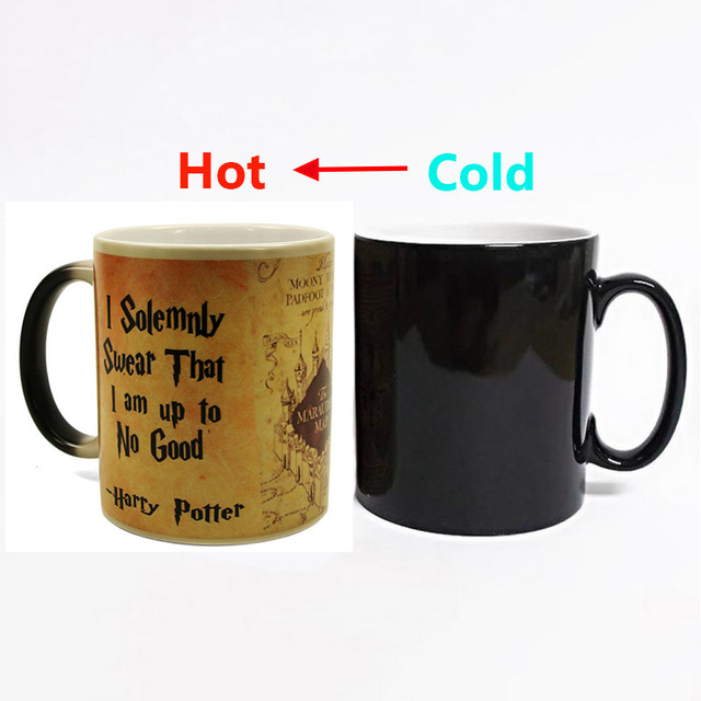 2018 New 1Pcs Magic Mug Harry Hot Drink Cup Color Changing Mug Potter Marauders Map Mischief Managed Wine Tea Cup Creative Gifts