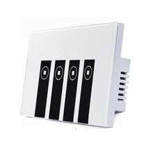 Smart Light Switch, 4 Switches Touch In-wall Wireless Plate Switch Compatible with Amazon Alexa, Remote Control Your Fixtures Fr