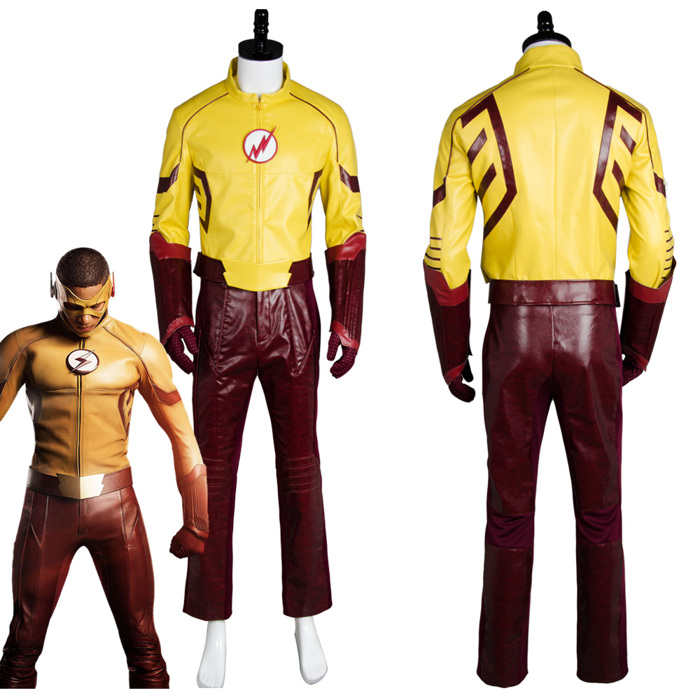 Kid Flash Young Justice Season 2 Cosplay Costume Outfit Uniform Suit Shirt Coat With Mask Halloween Carnival Costumes ...