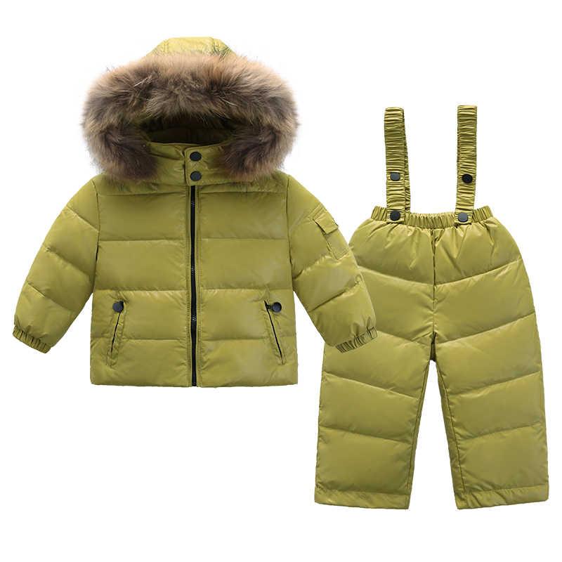 Коллекция 2018 года, модная детская одежда, костюмы из 2 предметов, зимний  комбинезон, ac3514ff2bd