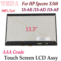 WEIDA LCD Replacement For HP Spectre X360 13 AE 13 AD 13 AF Touch Digitizer LCD Dispaly Assembly 13.3 13 AE 13 AD AF