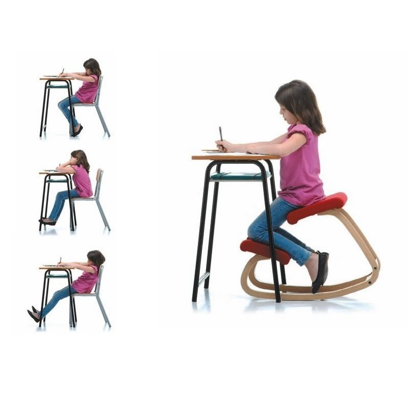 Stool home office furniture ergonomic wooden chair. Children's chair, child sitting posture correction chair