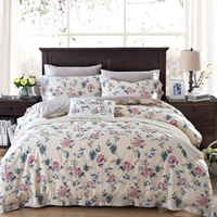 Svetanya Rose Flowers Print Bedding Sets 100 Cotton Bed Linens Twin Queen King Size Bedclothes