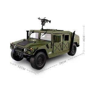 Image 2 - 合金ダイキャストハマー戦術車両 1:18 軍事装甲車ダイキャストモデルと 5 をオープンしました趣味のおもちゃ子供のため誕生日