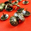 Atacado unhas Cabeça Do Vintage estilo Europeu De Madeira Estofados nails decoração de unhas pregos De Metal 100 pçs/lote Frete grátis