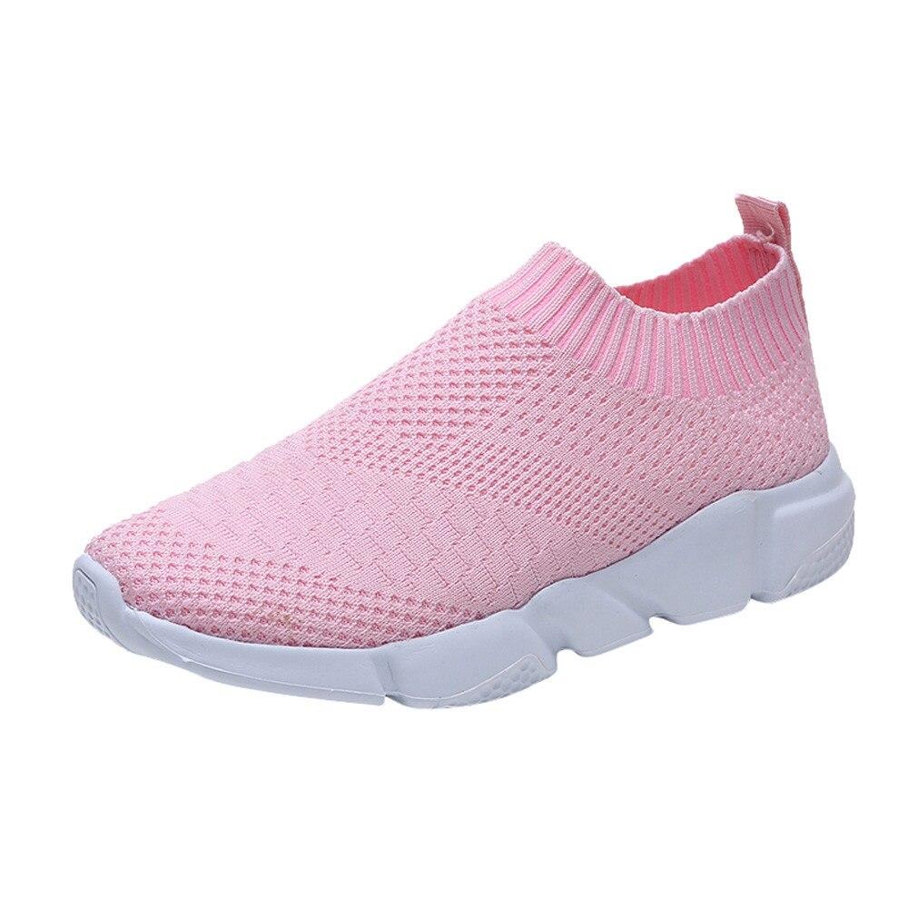 Taille Respirant rose 2018 Air blanc Grande D'été 41 Noir Feminino Lumière Plein Femmes En gris Chaussures 36 Maille Nouvelle Plates Mesh BqBgPHCZ