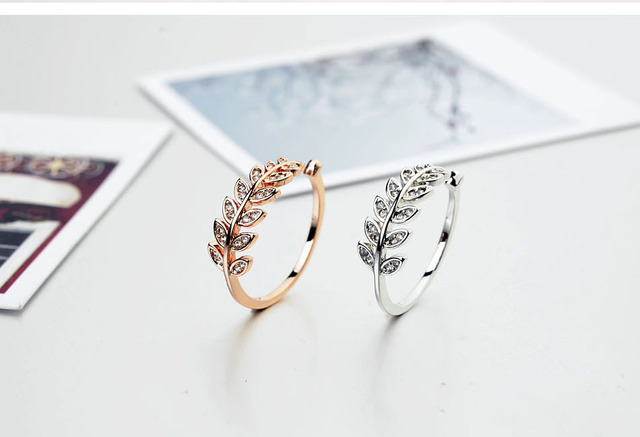 2015 Real & pave Austria crystal concise style Branch anillo ring for women wedding jewerly