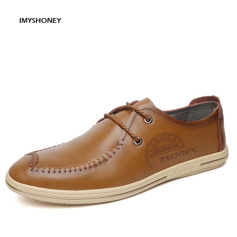 High Quality  Men's Shoes  Lace Up Up UK Fashion Male Casual Shoes Men Flats Footwear  5 Colors Genuine Leather new 2017 high quality men pu leather flats lace up fashion casual sport jogging flat shoes loafers soft light male footwear