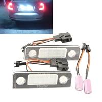 2x 18 SMD Error Free LED LICENSE PLATE LIGHT For Skoda Octavia 2008 Facelift Roomster Car