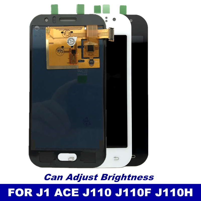 Tested Working LCD Replacement For Samsung Galaxy J1 Ace J110 SM-J110F LCD Screen Display Touch Digitizer Brightness Control