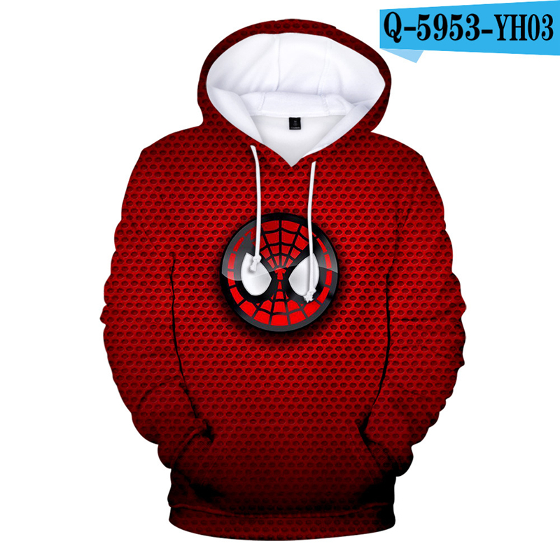 2019 Spiderman Costume Far From Home Hoodie Peter Parker Kids Moletom Boys 3D Clothing Pullover 3D Hoodies Game Clothes Causal