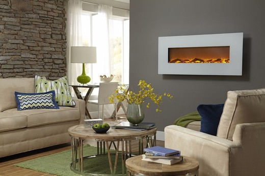 Free Shipping To India White Wall Mounted Electric Fireplace