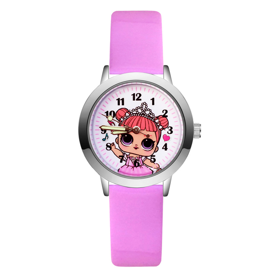 Fashion Cute Pretty Girl Minnie Unicorn Style Children's Watches Kids Student Quartz Leather Wrist Watch JA95