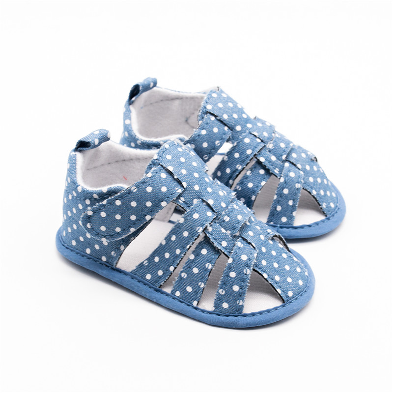Baby Schoenen Pram Foot White Dot Jeans Shoes For Baby Boy Prewalkers Toddler Moccasins Baby Summer Shoes Bebek Ayakkabi 0-18M