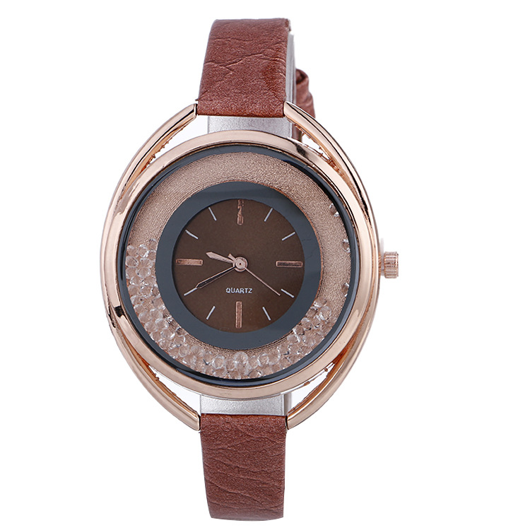 Fashion Luxury Women's Quartz Wristwatch Leather Women's Bracelet Watches Lover's Watch Reloj Mujer Quicksand Big Dial Dress